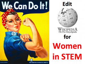 Wikipedia edit-a-thon for women in STEM [Women's History Month]