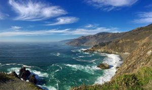 The Central Californian coastline. Credit: Sukee Bennett