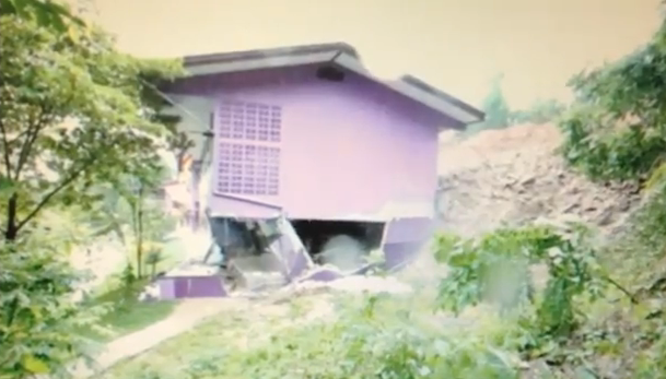 Thailand landslide video