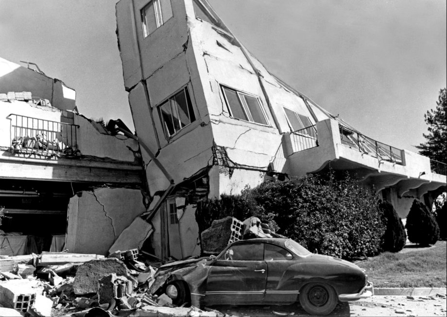 but nobody wants this to happen, right? L.A. County VA Hospital after '71 quake