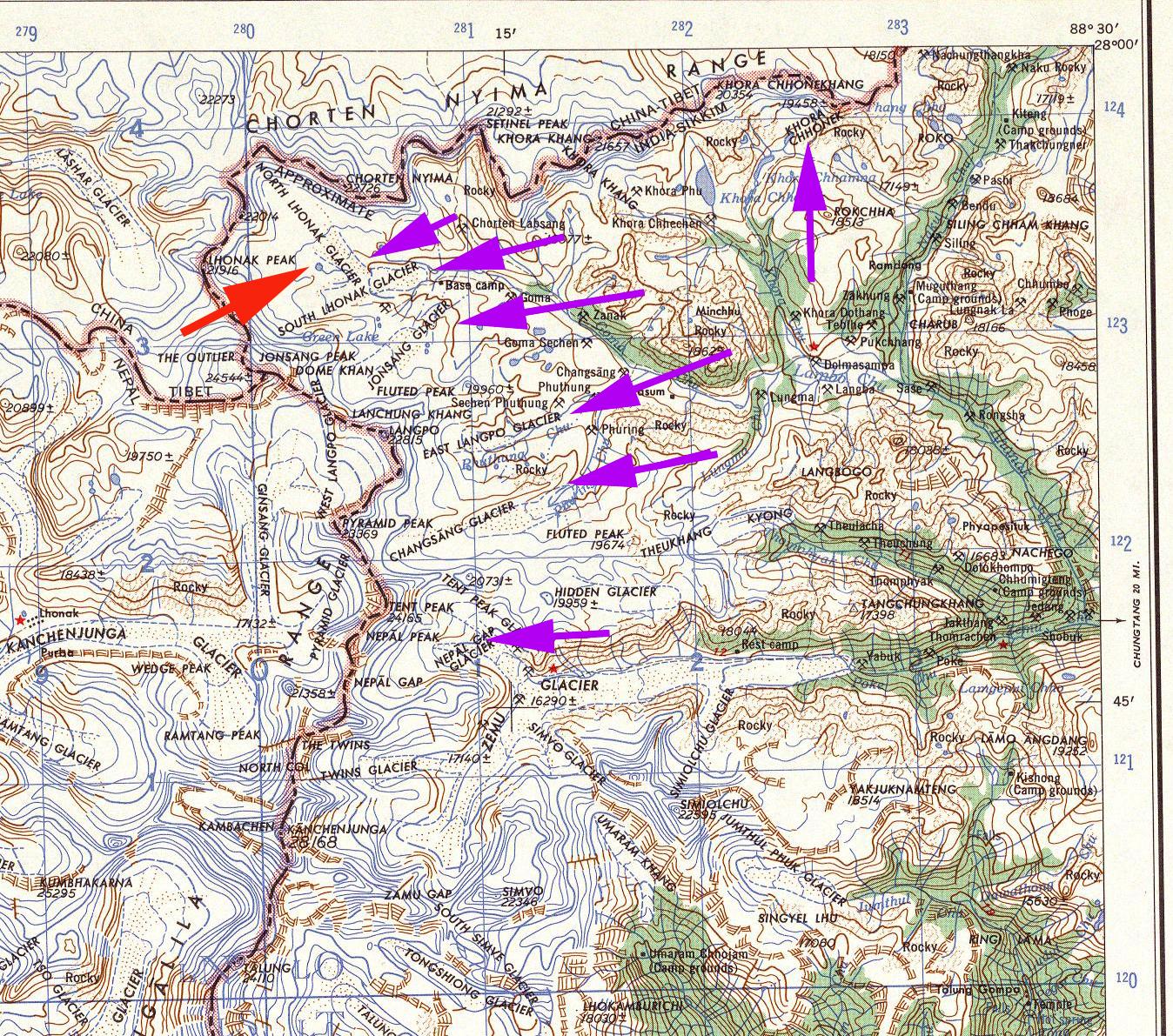 kanchenjunga map close
