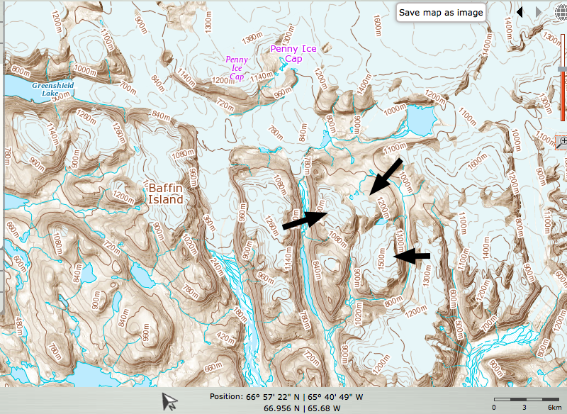 Topographic Map Baffin Island