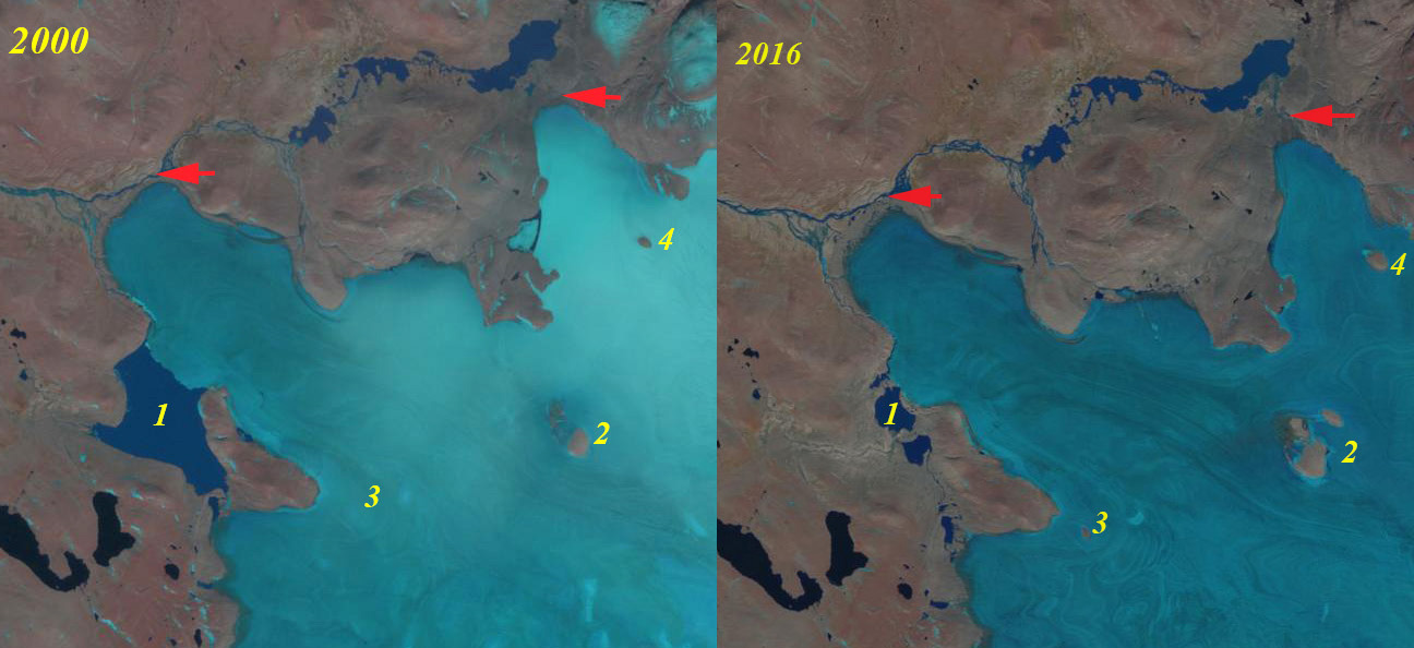 Penny Ice Cap NW Thinning and Retreat Evident - From a