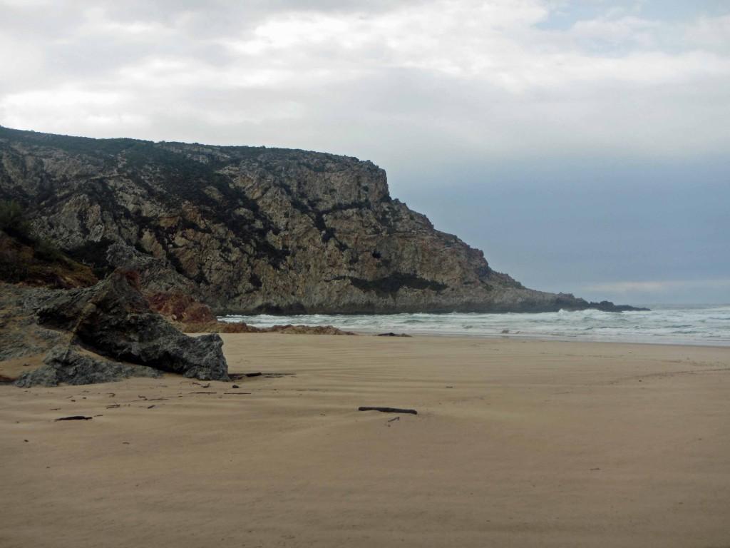 Some cliffs near the beach.