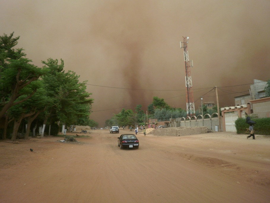 Cell tower in Burkina Faso