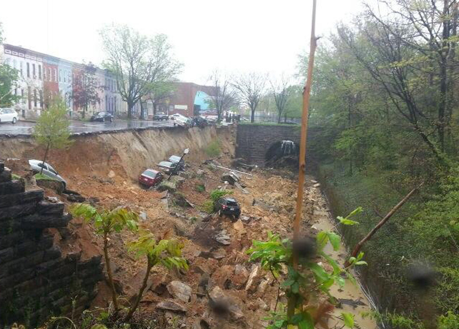 Baltimore Retaining Wall Collapse The Remarkable Video