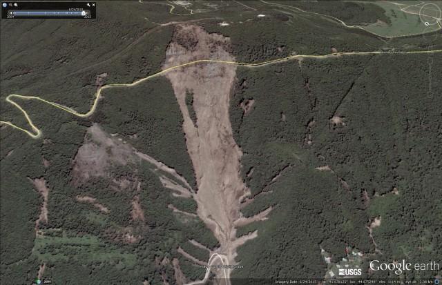 Tbilisi landslide and flood