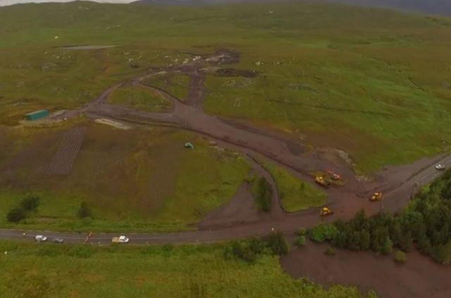 The Galway peat bog landslide