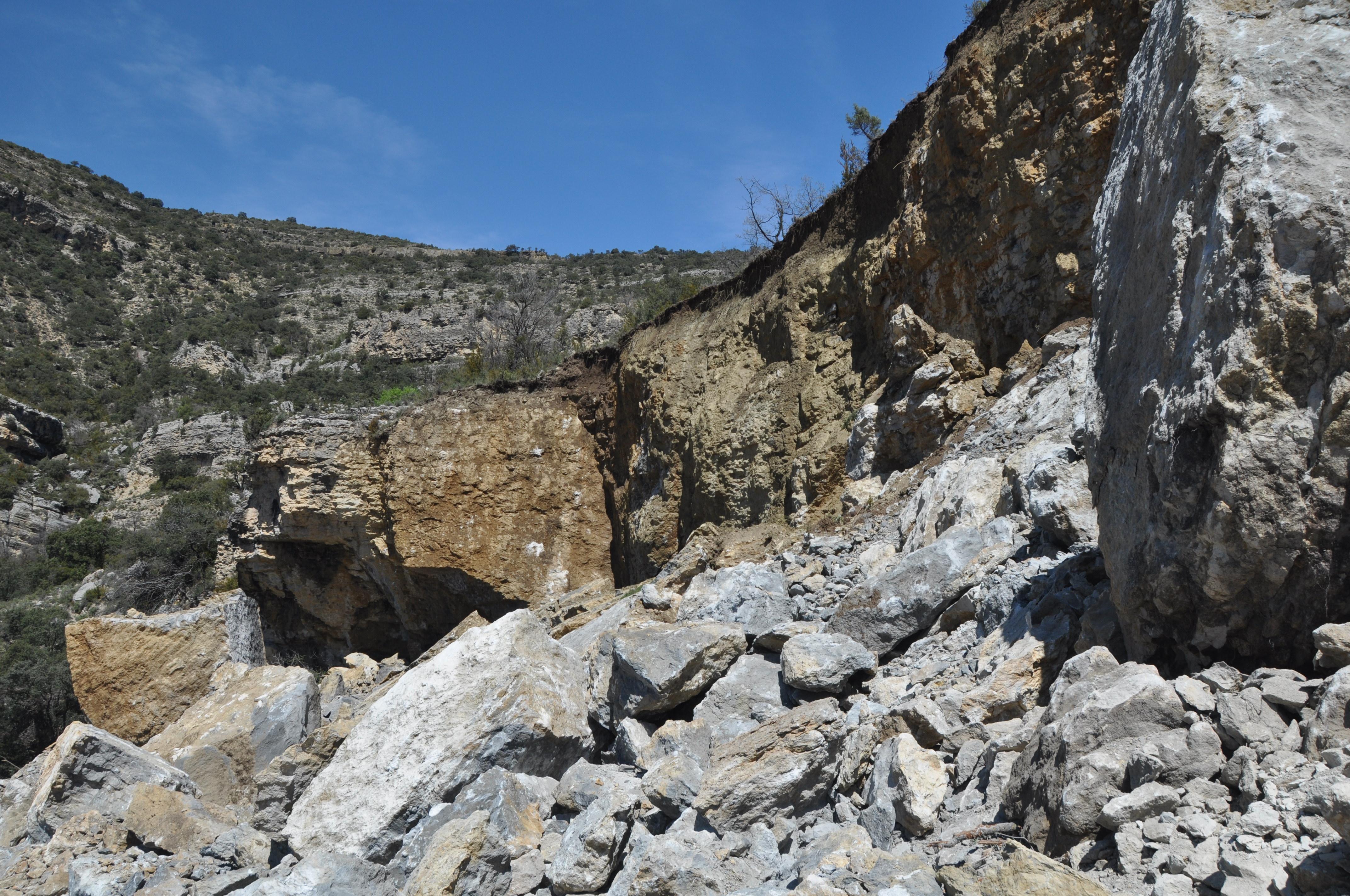 Castell de Mur landslide