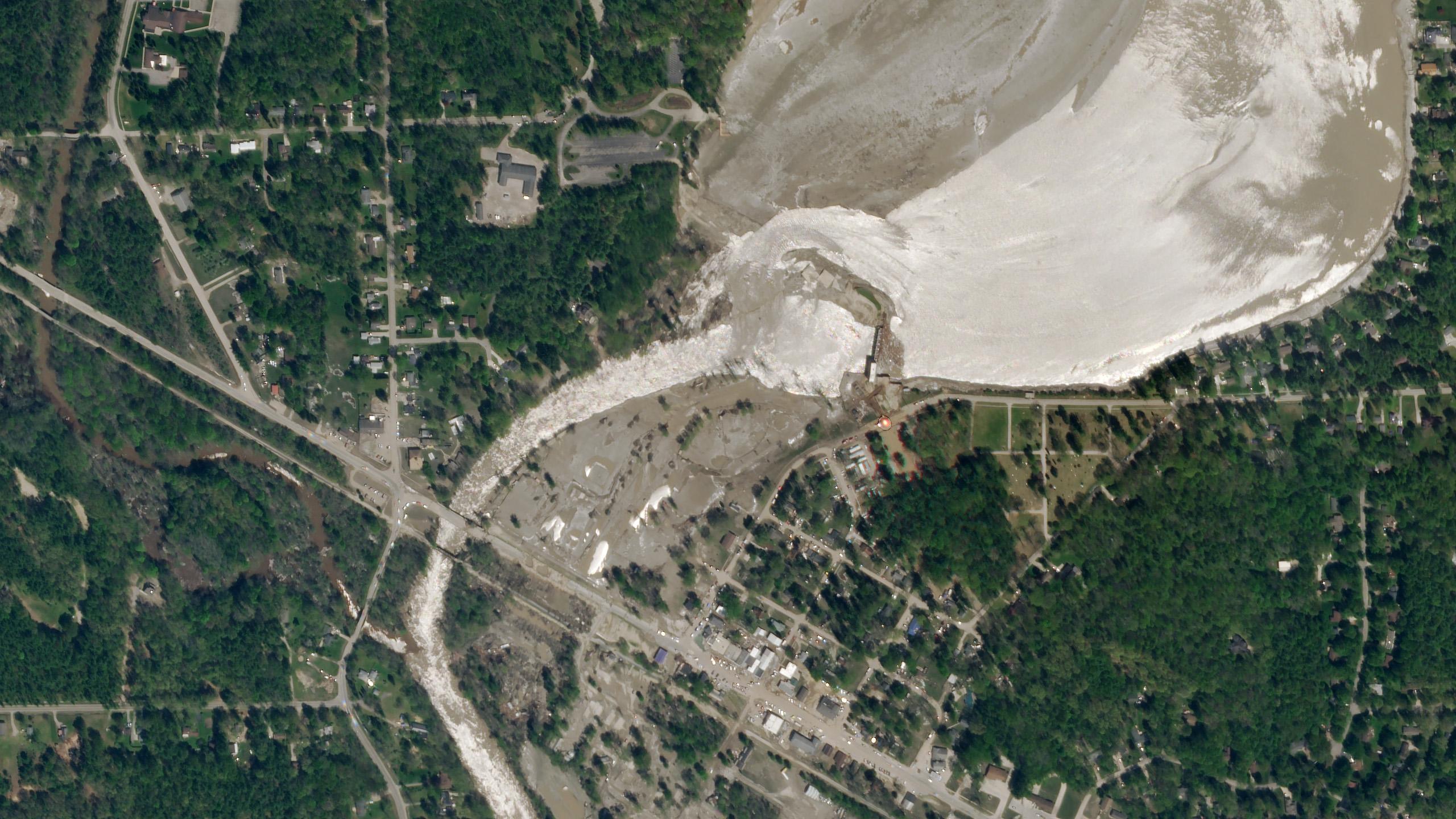 Sandford dam breach