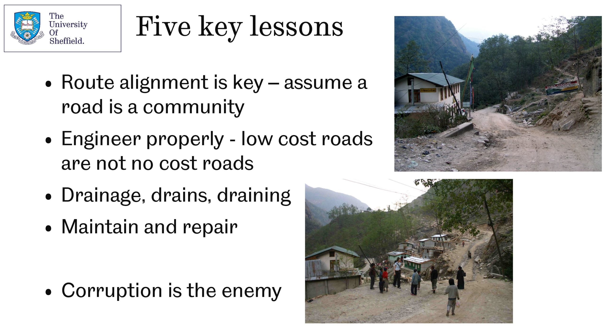 Landslides and sustainable development: managing mountain roads