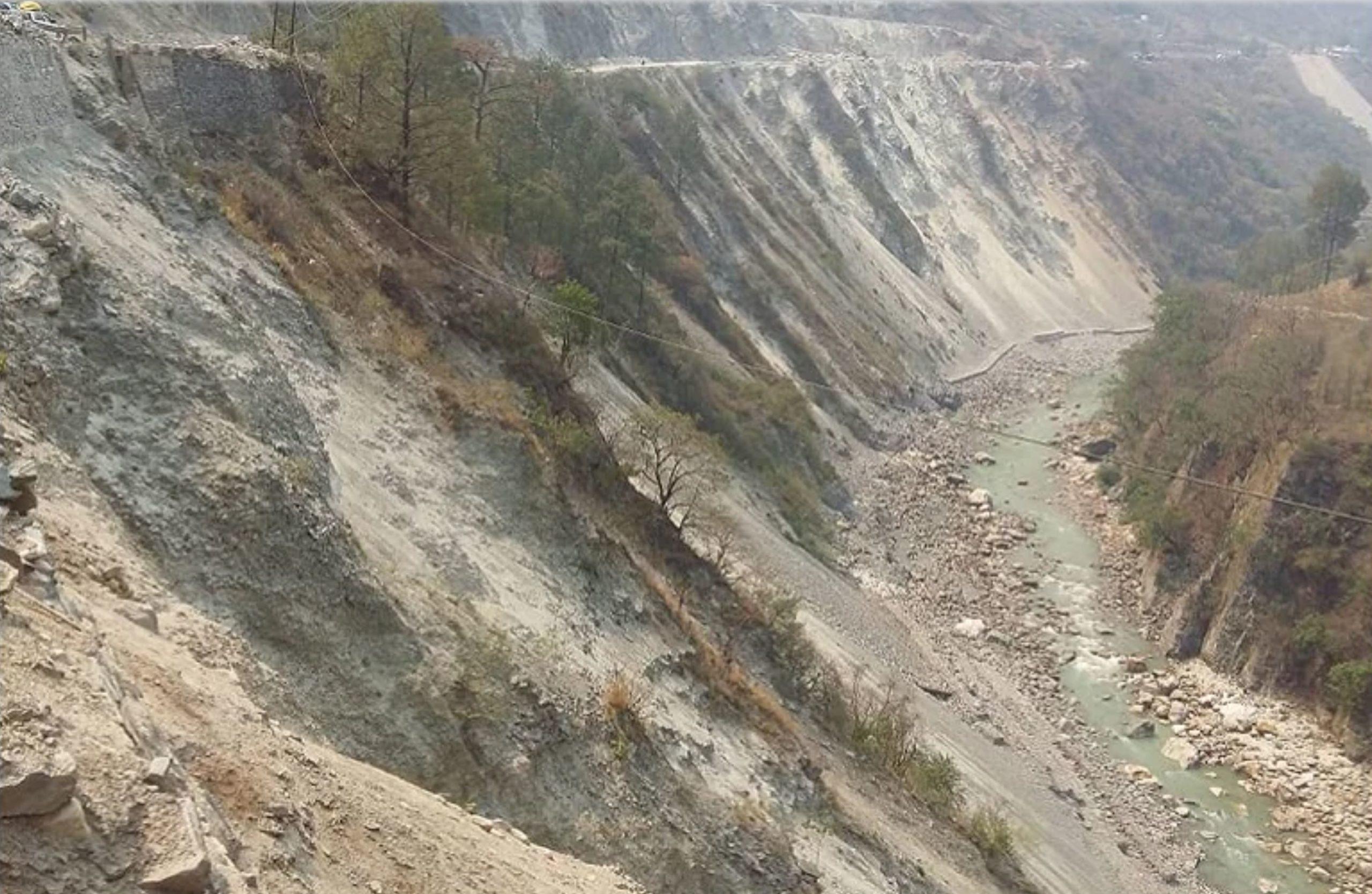 Landslides on the Char Dham highway