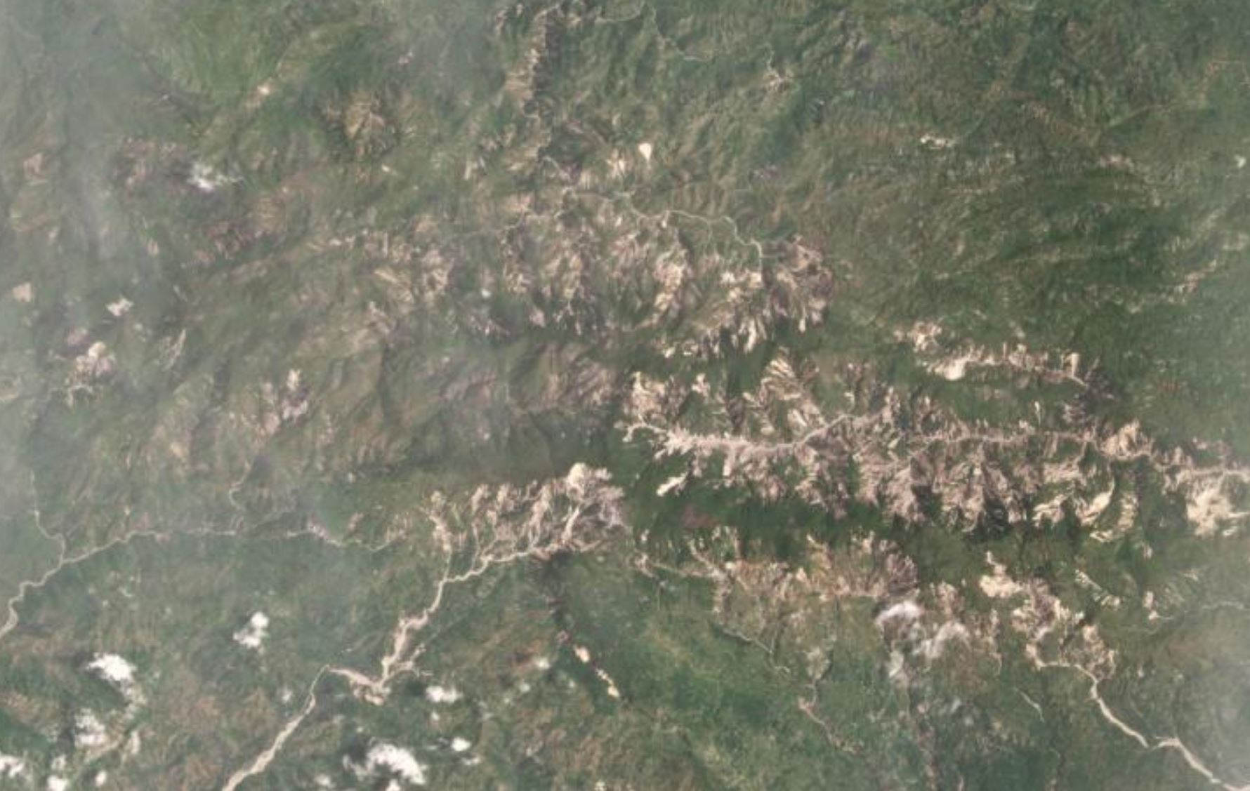The area around Pic Macaya National Park that was affected by the 14 August 2021 earthquake in Haiti.