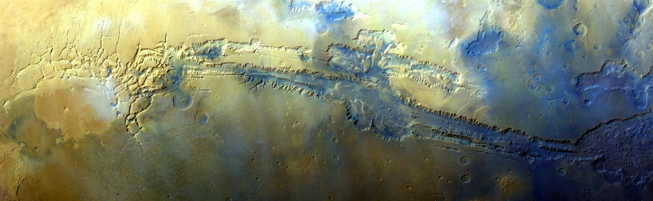 A MARCI mosaic of Valles Marineris that I made.
