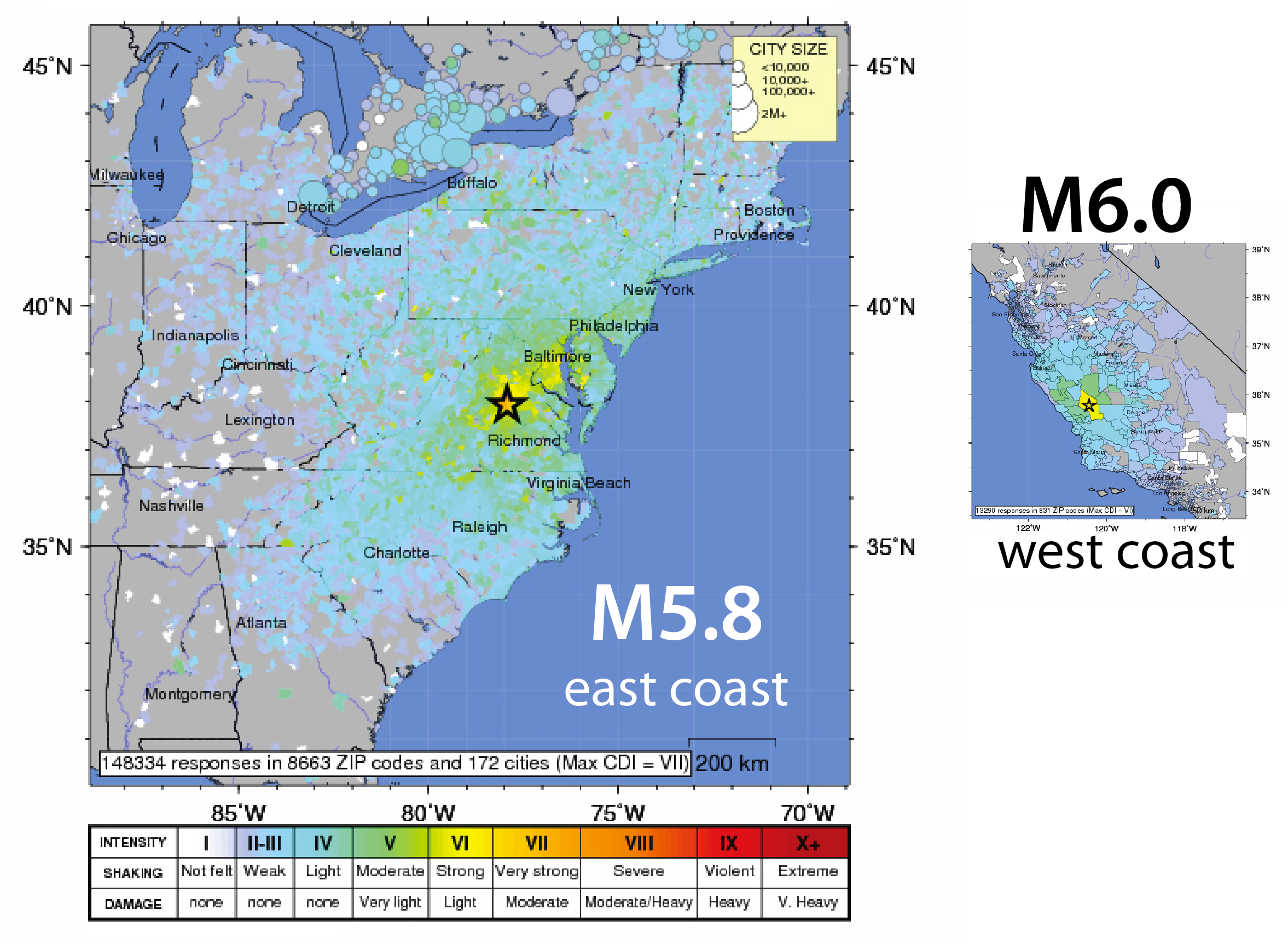 East Coast US Earthquakes What Gives The Trembling Earth - Map of the us east coast