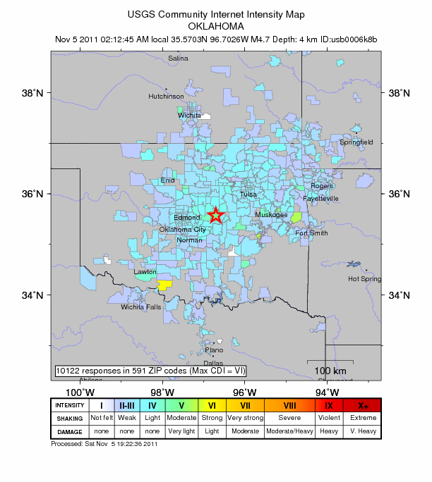 Oklahoma earthquake - not as uncommon as you think - The Trembling ...