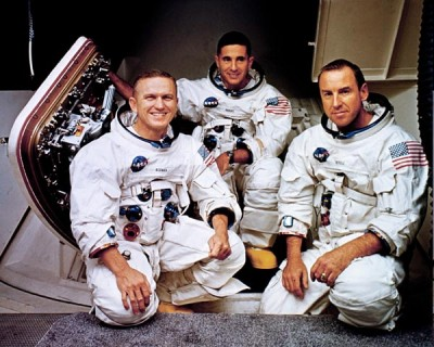 The Crew of Apollo 8: Borman, Anders and Lovell