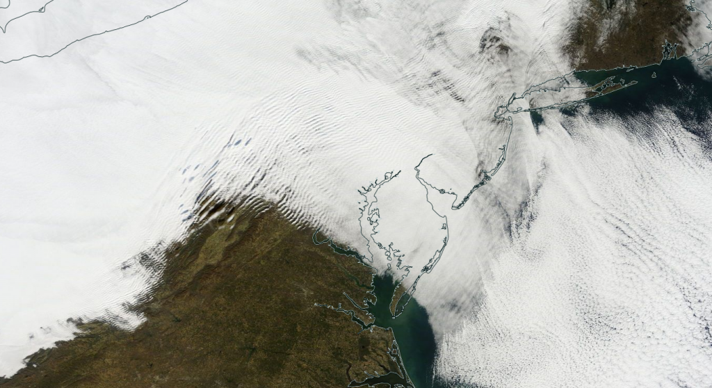 Clear all day in Richmond and Norfolk but gray and wintery in DC, Baltimore and on the Eastern Shore of Maryland.